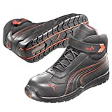 Puma Safety Shoes Daytona Mid S3 HRO SRC schwarz-rot