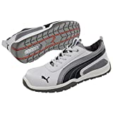 Puma Safety Shoes Monaco Low S3 HRO SRC, Puma 642650-100 Unisex-Erwachsene Espadrille Halbschuhe, Weiß (weiß/grau 100), EU 45