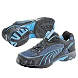 Puma Safety Shoes Fuse Motion Blue Wns Low S1 HRO, Puma 642820-256 Damen Espadrille Halbschuhe, Schwarz (schwarz/blau 256), EU 38