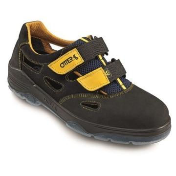 Otter Sicherheitssandale ESD S1, Farbe schwarz-gelb -